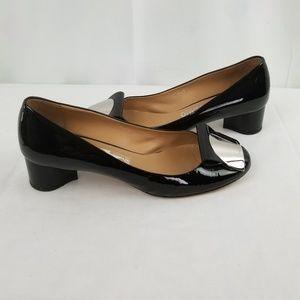 Salvatore Ferragamo Patent Low Heel Pumps size 8 C